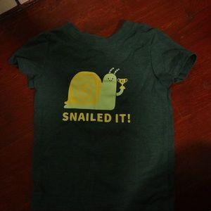 Snailed It - shirt sleeve t-shirt